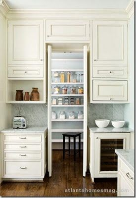 Entrance into a huge pantry.I have something close to this and love it! Will do this again in new home. #largepantryideas
