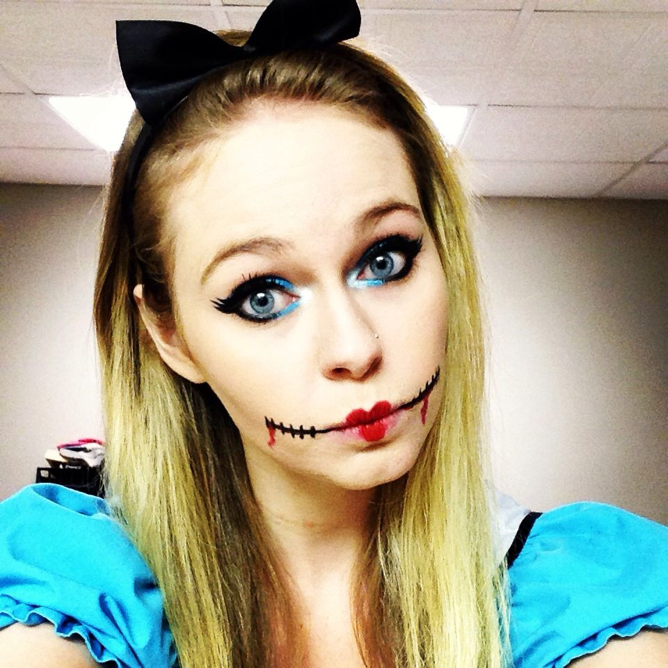 alice in wonderland : halloween makeup and costume | lookin good