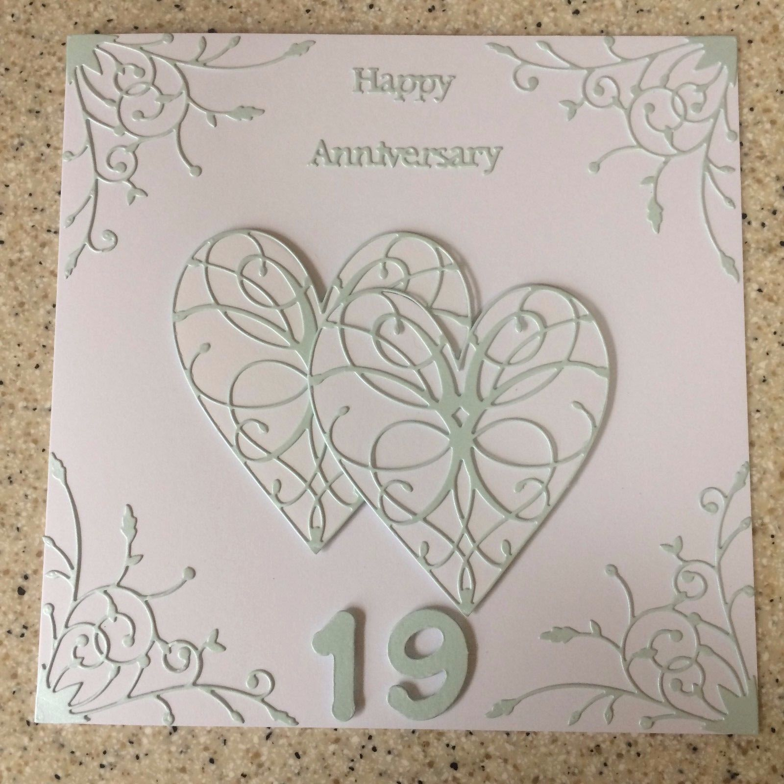 6 Large White Love//Anniversary//Wedding Couple Die Cuts