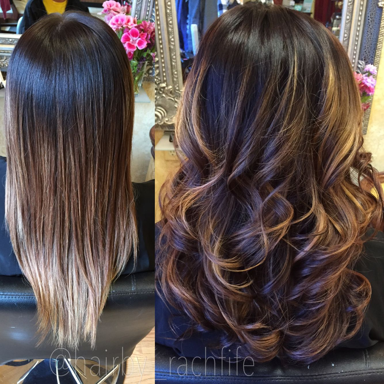 Lowlights On A Previous Ombre Hair By Rachel Fife Sf Salon Hair