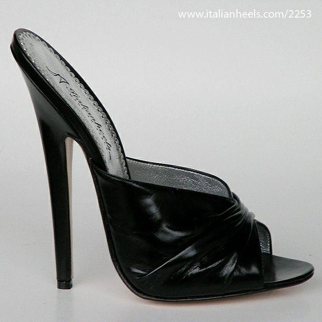 6c6449682940 Italianheels.com 2253 6inch high heel mule
