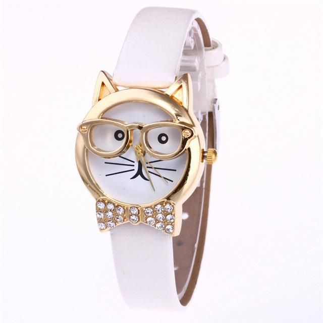 cat with glasses and rhinestone bowtie watch   beautiful plus size