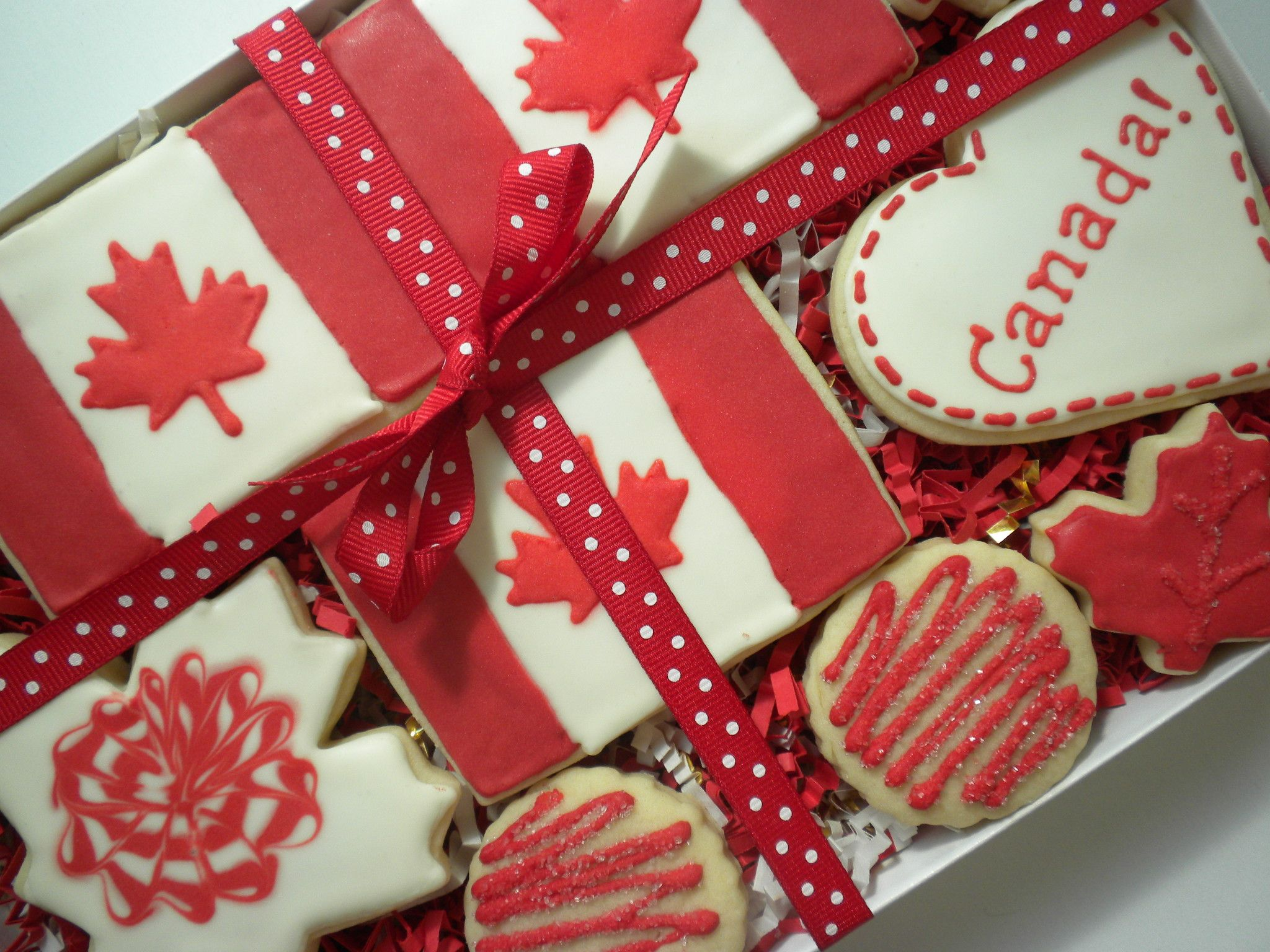 Canada Day cookies gift box set! (With images) Summer