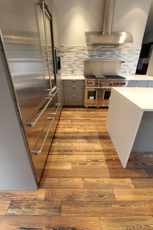 BENGAL Engineered Prefinished Reclaimed Heart Pine Wood Flooring From ReSAWNs RUSTIC MODERN Collection Design