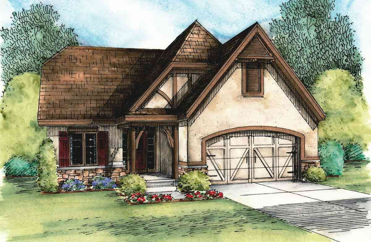 Plan 42344DB: European Cottage with Expansion Possibilities ...