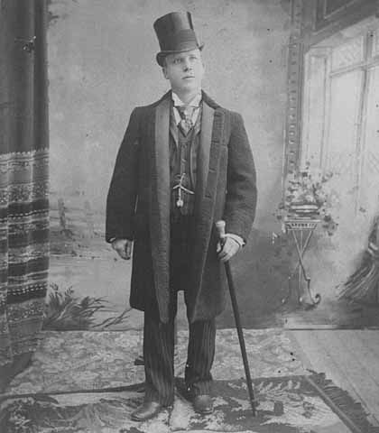 1890, mode masculine