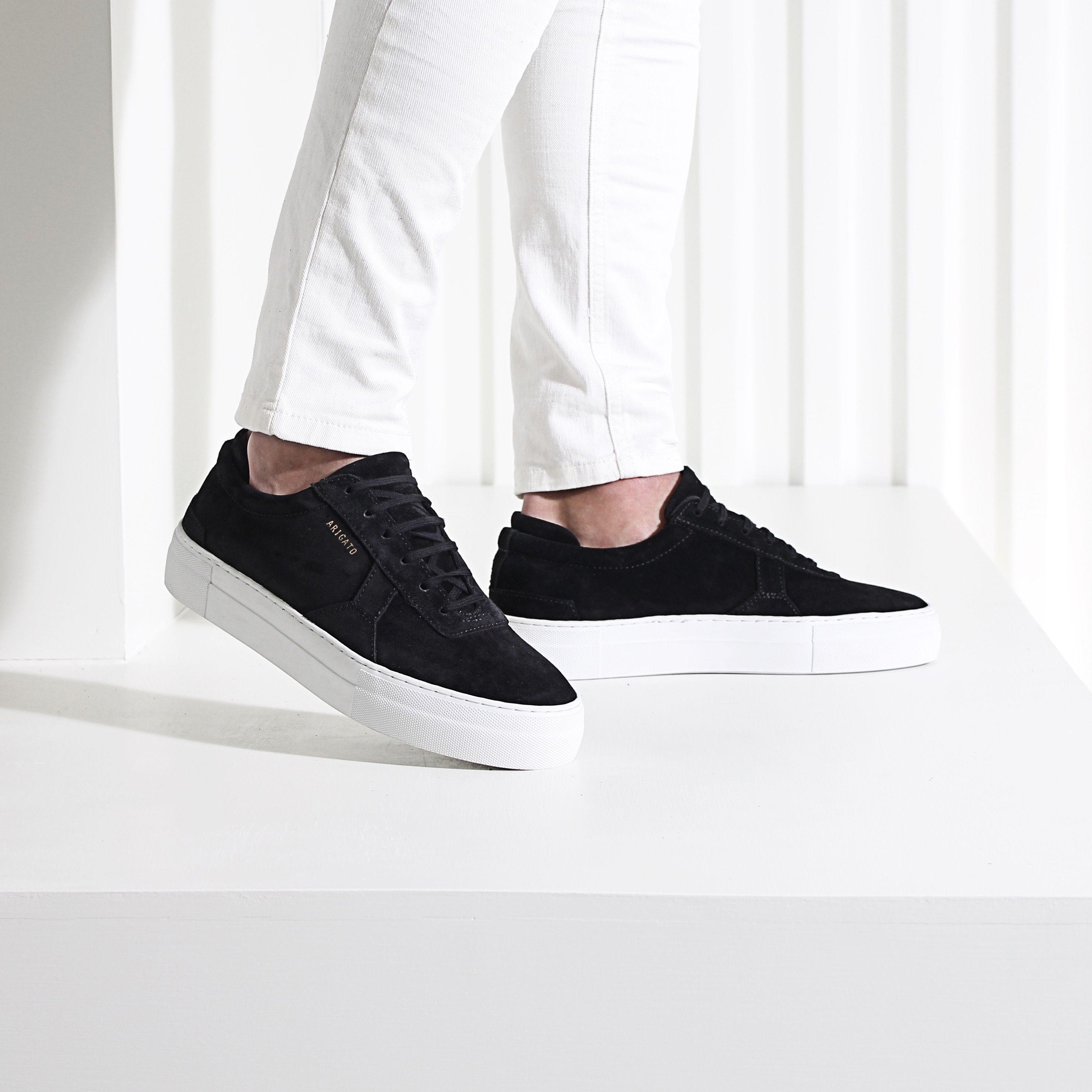 Black suede platform sneaker from Axel