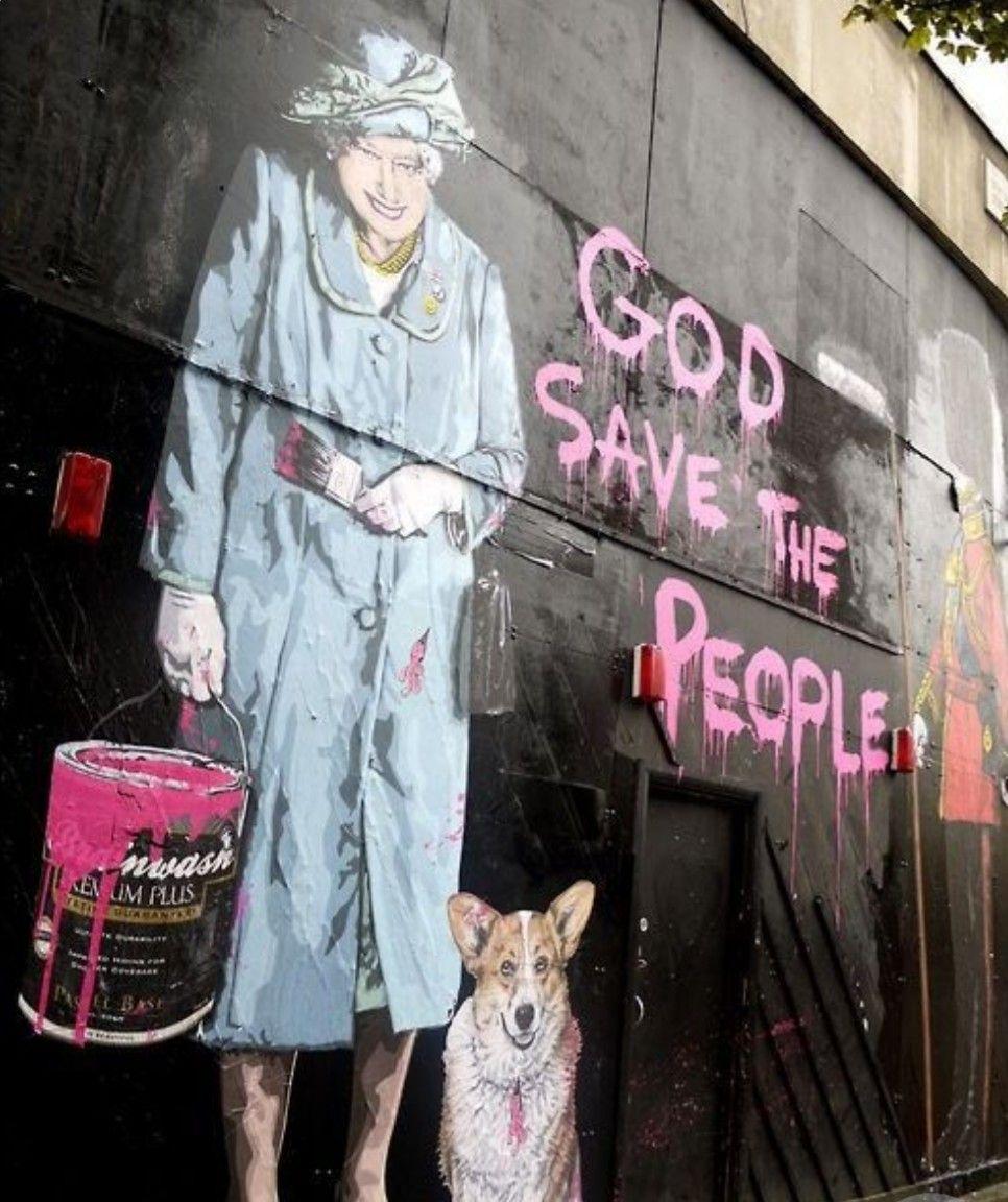 God Save The People Street Art Graffiti Street Art Banksy Art