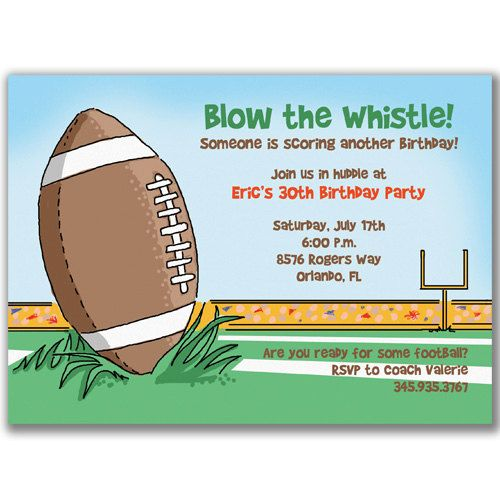 Football Birthday Party Invitation Wording httpwww