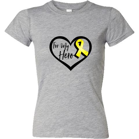 "Ewing Sarcoma ""For My Hero"" by AwarenessRibbonColors. #EwingsSarcomaAwareness"