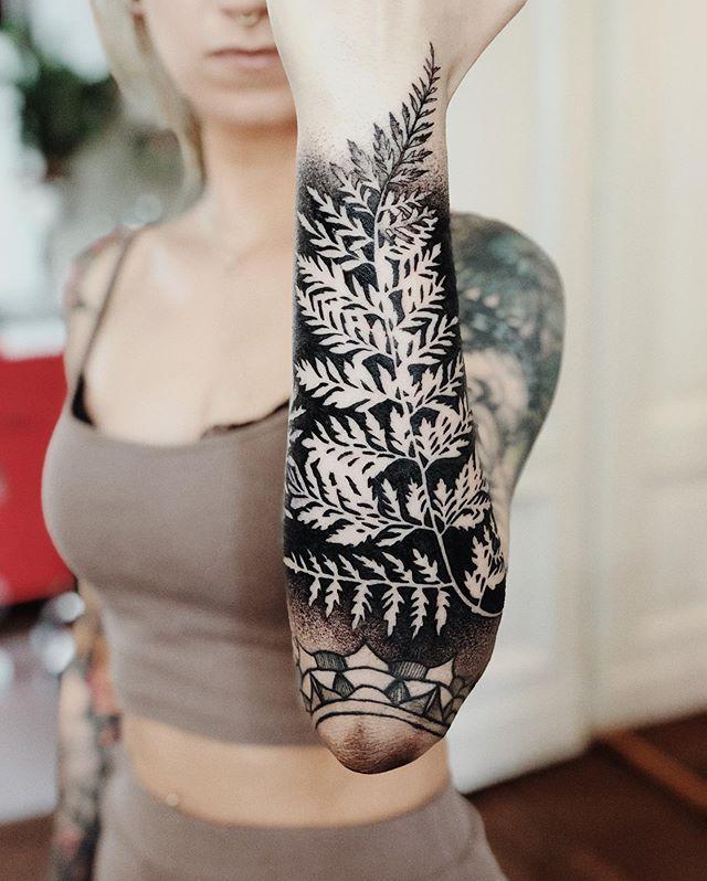 "Tattooer, Wroclaw, Poland on Instagram: ""Negative fern 🖤 done at @nasza_tattoo_shop #tattoo #tattoos #ink #fern #sleeve #blackwork #wroclaw #prague #czech #poland #"" ,  #blackwork #blackworktattoosleeve #czech #fern #ink #Instagram #naszatattooshop #Negative #Poland #prague #sleeve #Tattoo #Tattooer #tattoos #Wroclaw"