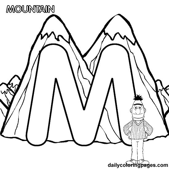 Dailycoloringpages Images M Bert Alphabet