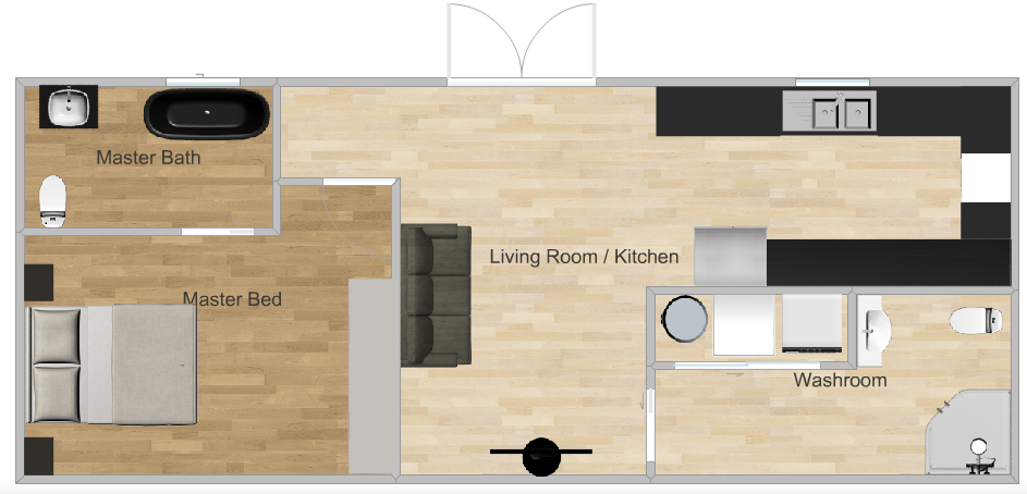 Tiny House With Room For 4 Kids Family Of 6 15x15