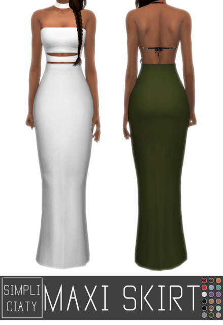 Sims 4 CC's - The Best: Maxi Skirt by Simpliciaty