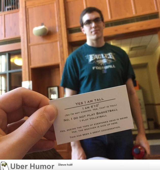 awesome I said, 'How tall are you?' He handed me this: Check more at https://10ztalk.com/2017/02/21/i-said-how-tall-are-you-he-handed-me-this/