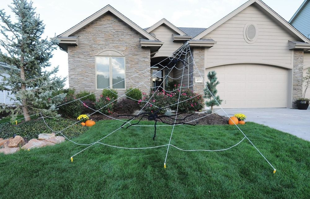 Outdoor Halloween Decoration Mega Spider Web Decor House Haunted