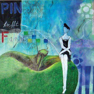 """(c) Artelisabeth 2015 - Pinsel trifft Farbe - Painting of the series """"Weibsbilder"""" Gemälde aus der Serie """"Weibsbilder"""" More art: www.artelisabeth.wordpress.com"""