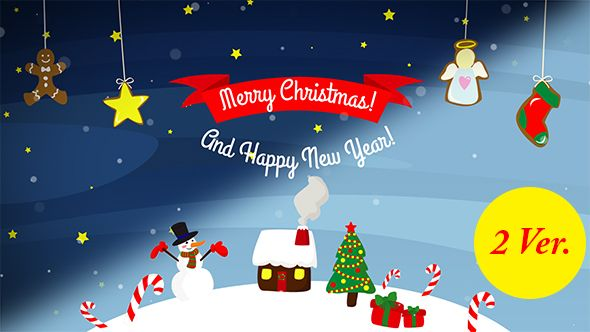 christmas holidays after effects templates