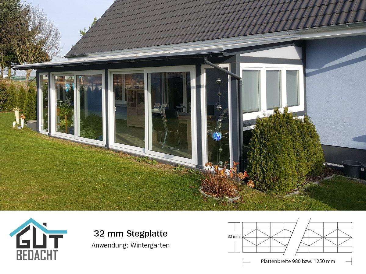 Wintergarten Polycarbonat Stegplatten In 32 Mm Opalweiss Mit