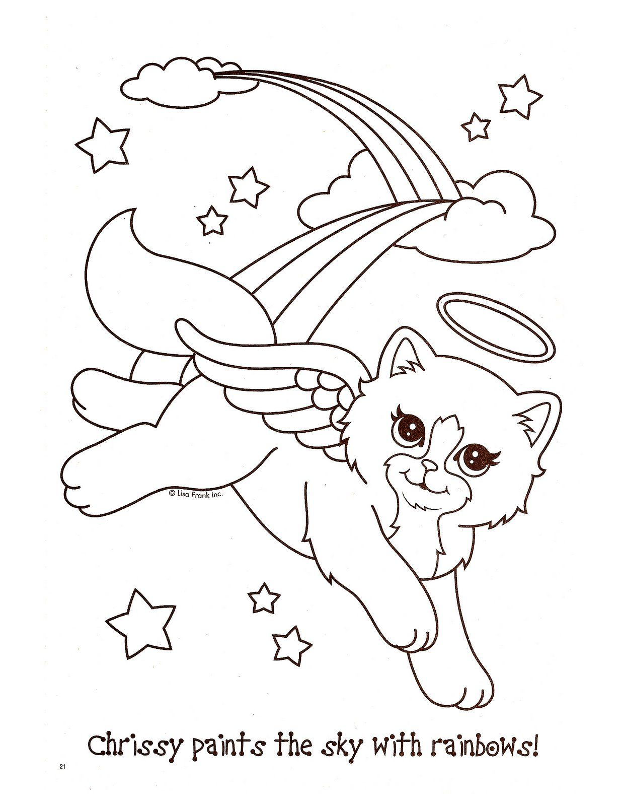 Lisa frank coloring pages to download and print for free | Lisa ...