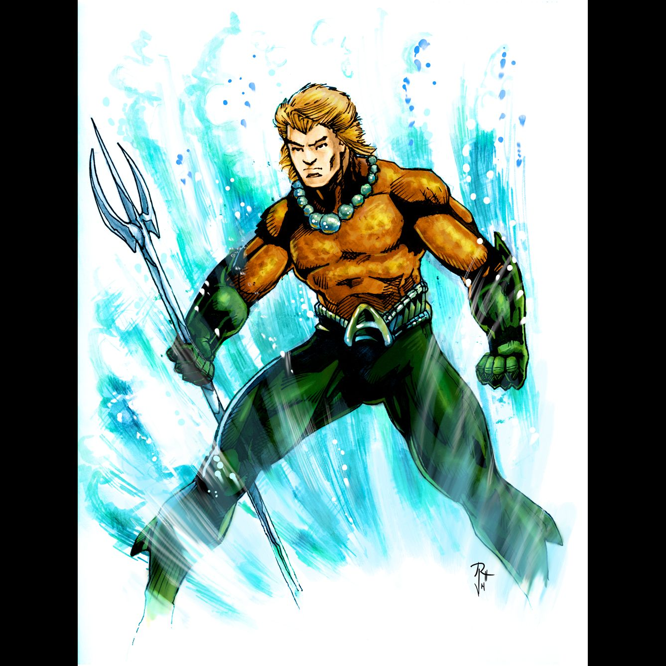 Aquaman by Anthony Romrell final color Cartoons comics