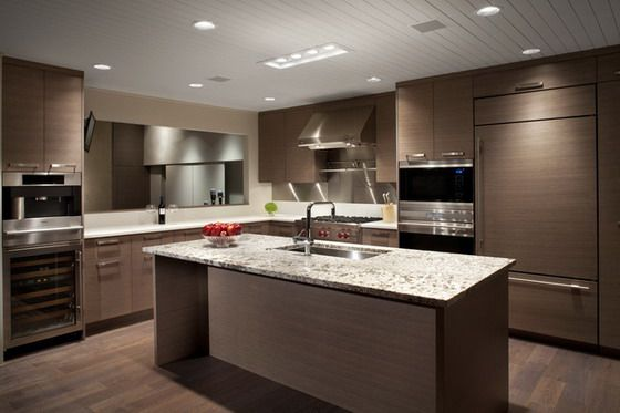 Dark Decoration In Modern Kitchen Design  Kitchen Ideas Impressive Kitchen Designs Contemporary Review