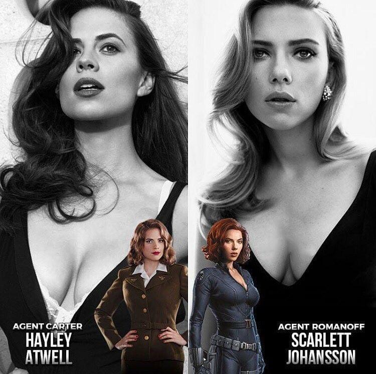 Marvel hot girls Hottest Actresses Of Marvel Cenematic Universe Marvel Girls Marvel Women Superhero Comic