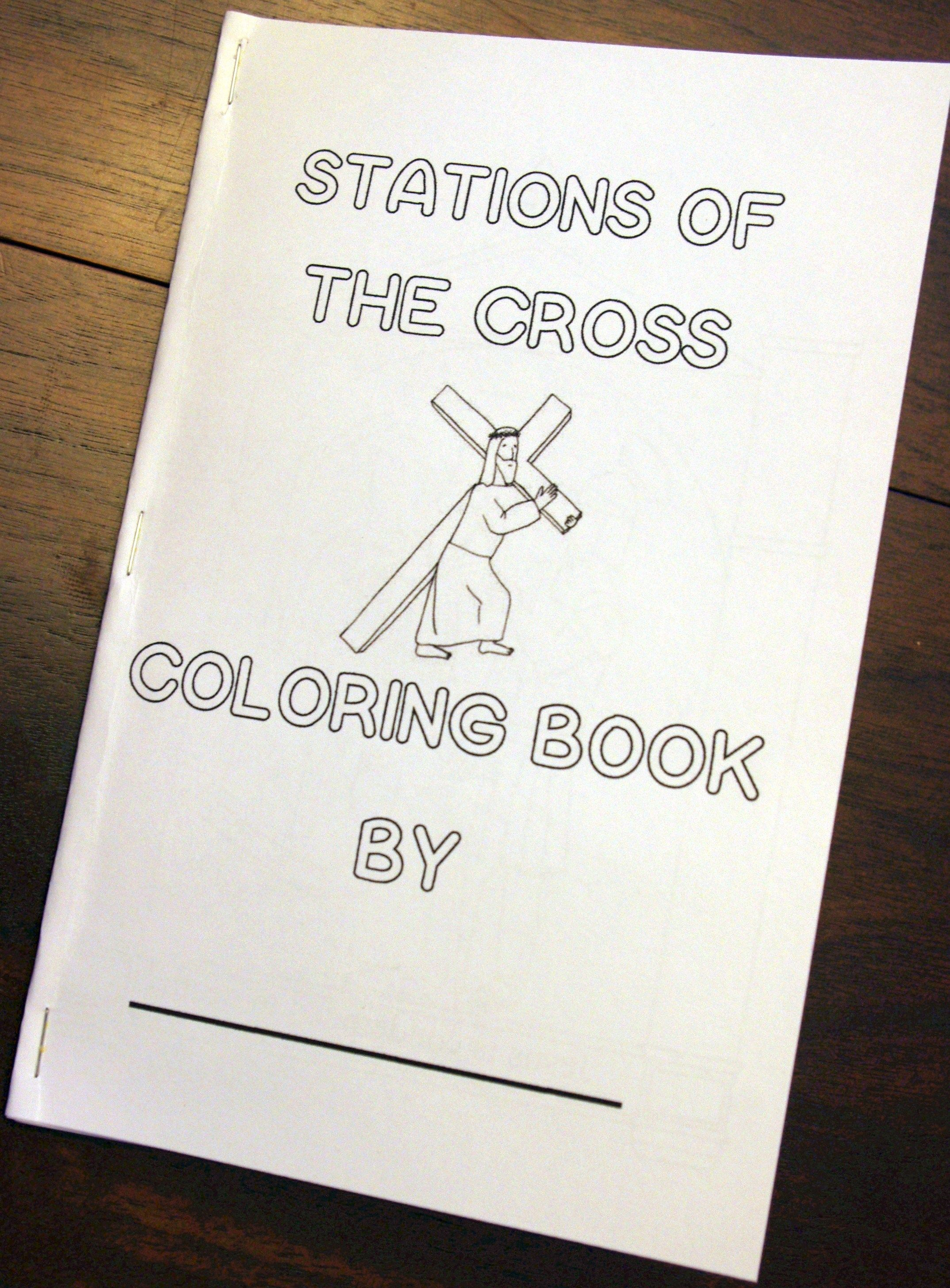 Stations Of The Cross Printable Coloring Book Free