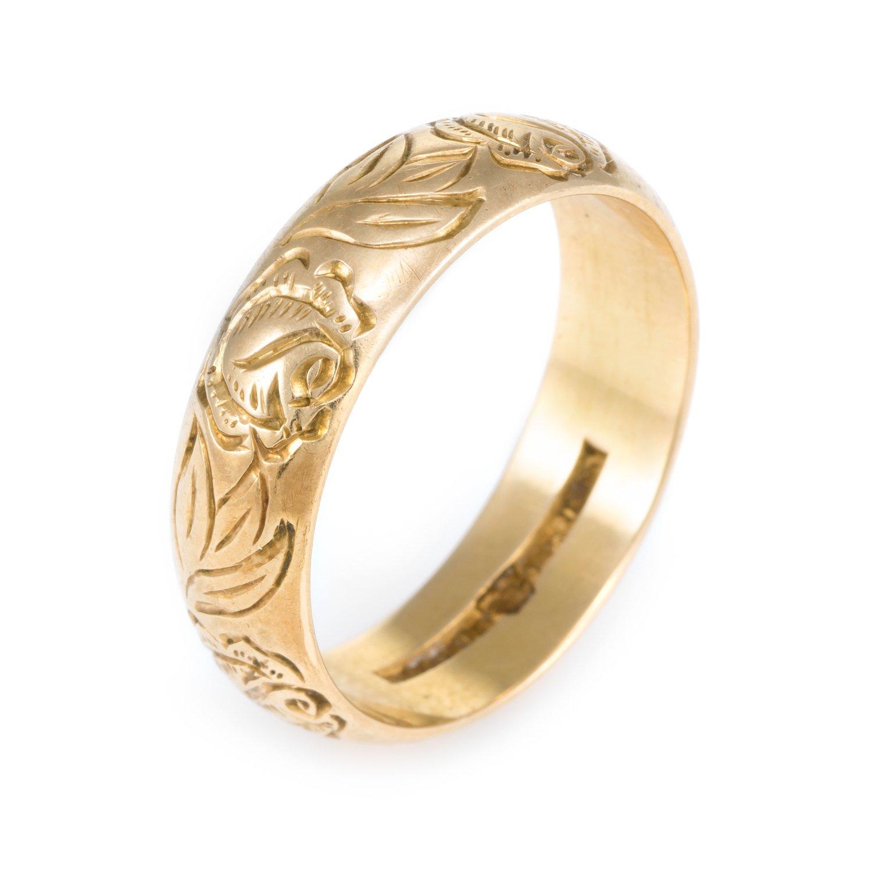 Swedish Vintage 18k Gold Wedding Band 18k gold wedding