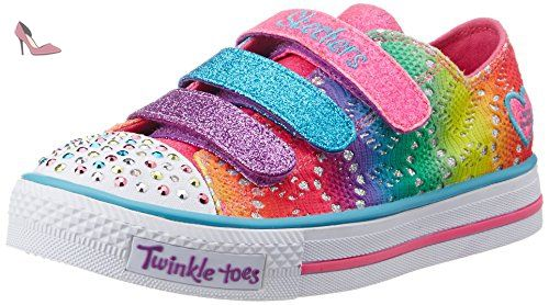 Skechers Shuffles Rainbow Madness, Baskets Basses Fille