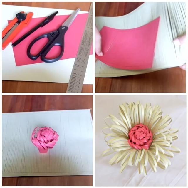 Tutorial How I Make Flower Center Sale Agaiiin All Paper