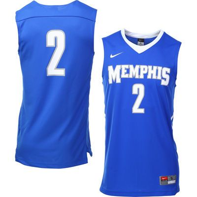 separation shoes 77cb4 27bc0 No. 2 Memphis Tigers Nike Replica Jersey – Royal Blue | NCAA ...