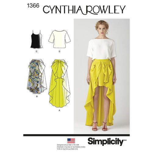 Simplicity Pattern 1366 Misses\' Skirt & Top Cynthia Rowley ...