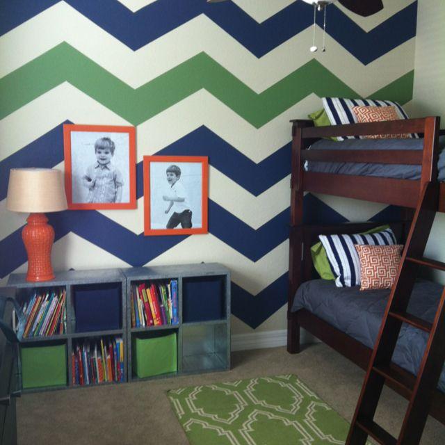 amusing green gray bedroom ideas kids | love the chevron wall, want to do it in owen's room in ...