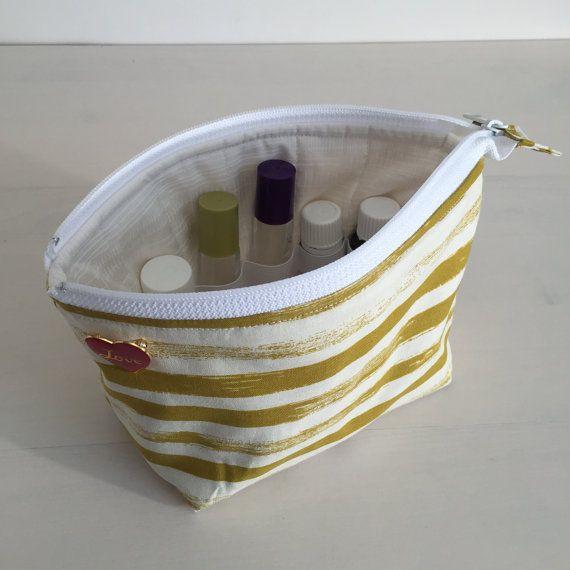 Brushstroke Stripe Essential Oil Storage Bag by LovePalmer on Etsy
