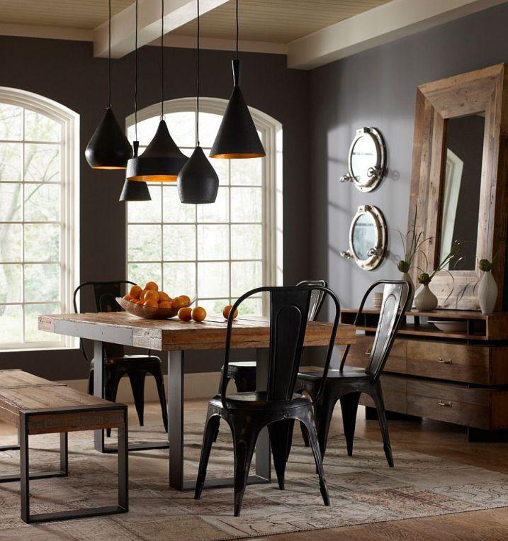 chaises tolix noire industrielle lighting industrial. Black Bedroom Furniture Sets. Home Design Ideas