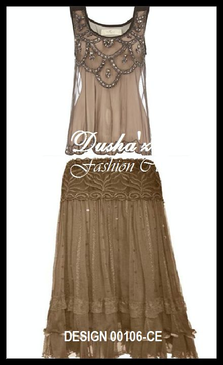 79506692235 Net Blouse and Skirt with Beads work & Resham DESIGN- 00106-CE ...