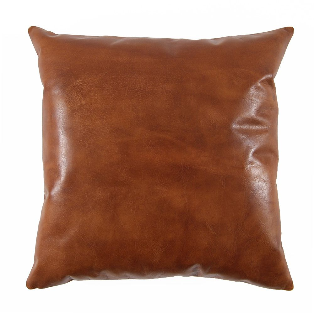 Saddle Brown Leather Pillow Leather Throw Pillows Saddle Brown Leather Leather Pillow