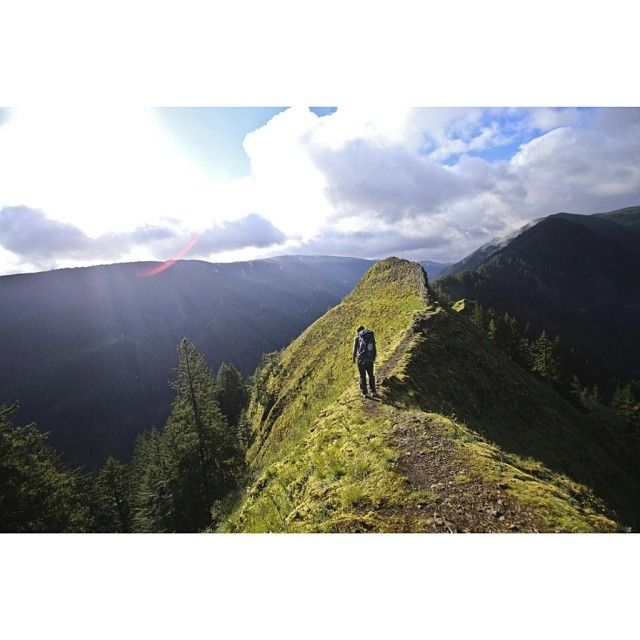 """""""Standing on the top of a Munra Ridge watching the morning fog burn off from the hillside below. Sometimes you just have to soak in the view."""" Fan Ian Mastenbrook shares this photo from his favorite #hike in the #ColumbiaGorge. #NeverStopExploring  Where have you found some of your favorite hikes?"""