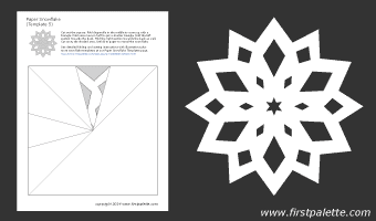 Printable Paper Snowflake Templates With Directions Christmas Paper Snowflake Template Snowflake Template Paper Snowflake Patterns