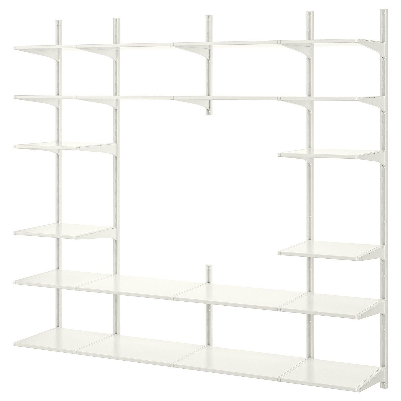 ALGOT Wall uprightshelves white