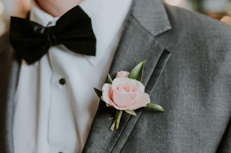 Soft & sweet blush boutonniere #cedarwoodweddings Courtney+Kyle :: 08.20.16 | Cedarwood Weddings