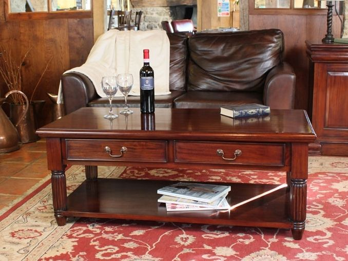 Mahogany Coffee Table With Two Drawers Coffee Table Mahogany