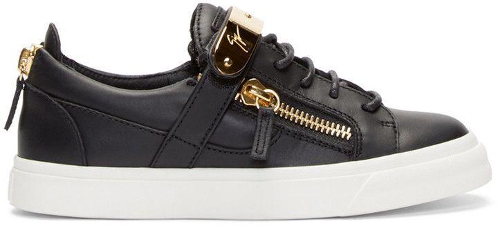 7fa451f5c947f Giuseppe Zanotti SSENSE Exclusive Black & Gold Birel Sneakers  #GiuseppezanottiHeels