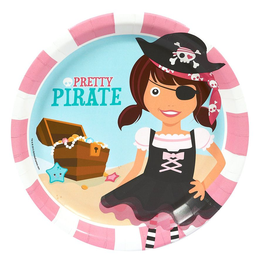 Pink Pirate Party, DIY Printable Card, Party Invitation, Birthday ...