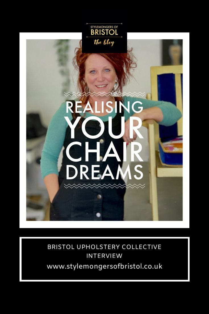Meet Leigh-Anne Treadwell founder of Bristol Upholstery Collective! You may recognise her from Money For Nothing on BBC TV, upcycling treasure salvaged from tips around the UK. Read the full interview with this extraordinary female entrepreneur on the Stylemongers Of Bristol blog #upholstery #moneyfornothing #bbc #leighannetreadwell #upcycled #furniture #bristolupholsterycollective #interiordesignblog #womeninbusiness  #stylemongersofbristol