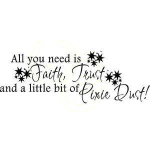 faith, dust and pixie dust tatoos - Google Search