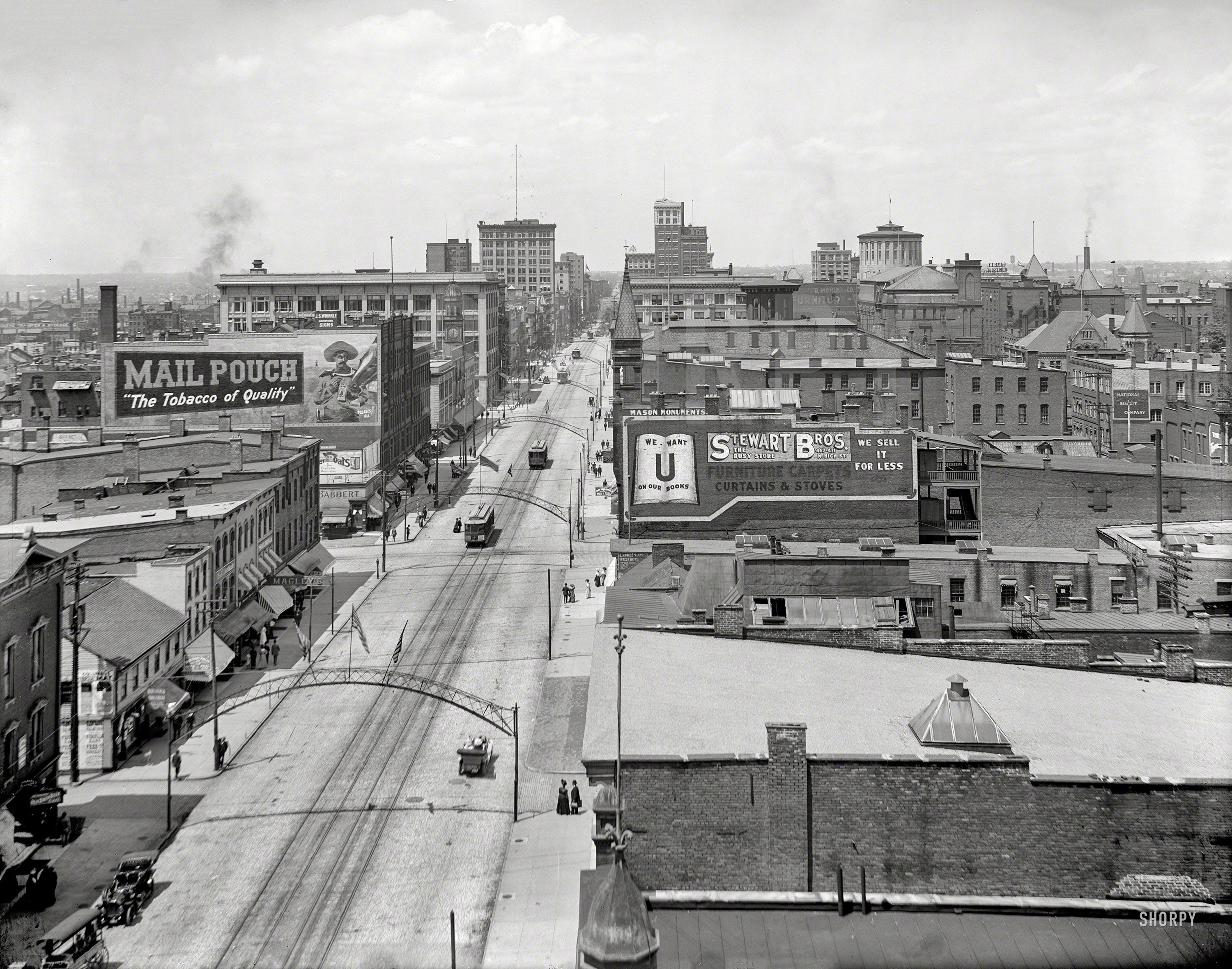 Circa 1910 Columbus Ohio From Great Southern Hotel Shorpy