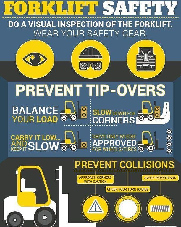 More on forklift safety Forklift safety, Workplace