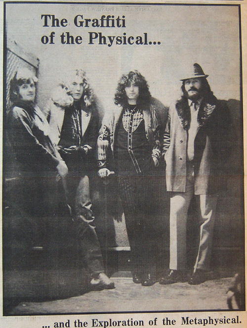 Led Zep  The Graffiti of the Physical and the Exploration of the Metaphysical